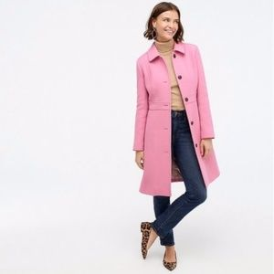 classic lady day coat in Italian double-cloth wool